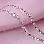 Серебряные браслеты и цепи Фигаро