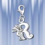 """Серебряная подвеска буква """"R"""""""