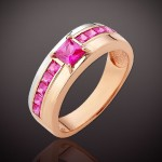 Рубин Корунд. Золотое кольцо