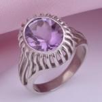 Серебряное кольцо Амплуа. Аметист