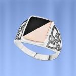 Мужское кольцо Гетман. Золото, серебро