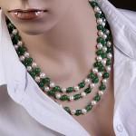 Ожерелье из жемчуга и нефрита
