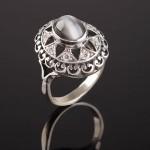 Кольцо серебряное. Улексит