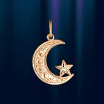 Подвеска золотой мусульманский полумесяц