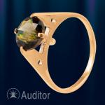 Кольцо из золота 585 с раухтопазом