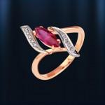 Золотое кольцо Рубин