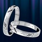 Обручальное золотое кольцо. Белое золото.