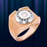 """Мужское кольцо из золота """"Грань"""""""
