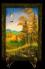 Картина из Камней Лес