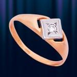 """Кольцо из Золота 585 """"Звезда"""""""