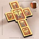 Крест деревянный, 6 икон