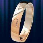 """Обручальное кольцо золотое """"Лёд и Пламя"""""""