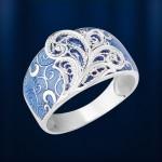 Кольцо Зимние морозы. Серебро & Эмаль