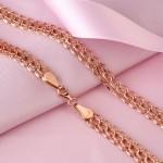 Золотая цепь плетение Американка