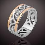 Кольцо Анталия. Серебро & Золото