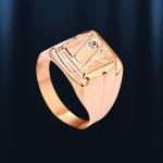Кольцо мужское-печатка. Русское золото