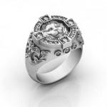 Мужское кольцо-печатка, Перстень Лев