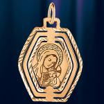 Икона Божией Матери из золота Ромб