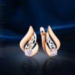 Cерьги с кристаллами Swarovski® Русское Золото
