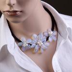 Ожерелье. Лунный камень & жемчуг