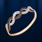 Золотое кольцо. Фианиты