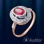 Кольцо из золота 585° с рубином