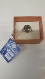 Кольцо из серебра РАУХТОПАЗ
