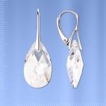 Серьги серебряные, кристалл Swarovski®
