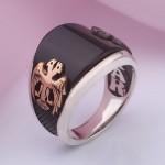 Перстень мужской. Серебро & Оникс