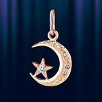Золотой мусульманский полумесяц подвеска
