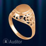 """Русское кольцо золотое """"Филигрань"""""""