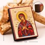 Семистрельная Божия Матерь, греческая икона