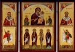 Русская икона- складень В скорбях и печалях утешение