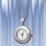Серебряные часы на цепочке