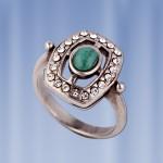 Кольцо с малахитом Бижутерия
