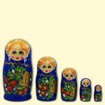 "Матрешка ""Россинка"" 5 фигур синяя"