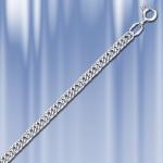 Цепь серебряная Панцирная двойная