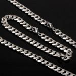 Стальная мужская цепь и браслет