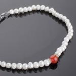 Ожерелье из жемчуга и агата