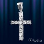 Крестик серебрянный нательный