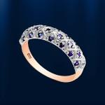 Золотое кольцо c cапфирами