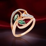 Золотое кольцо. Фианит