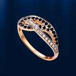 Золотое кольцо. Шпинель & Фианиты