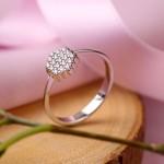 Russischer Ring. Weissgold