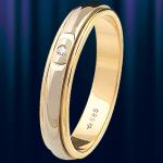 """Кольцо обручальное """"Фигаро"""" Жёлтого золота"""