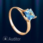 Кольцо из золота 585 с топазом