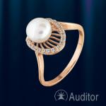 Кольцо из золота 585° с жемчугом