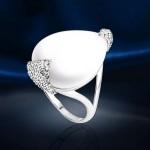 Кольцо серебряное. Лунный камень