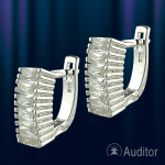 Серьги из серебра c фианитом