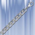 Цепь Панцирная двойная серебряная